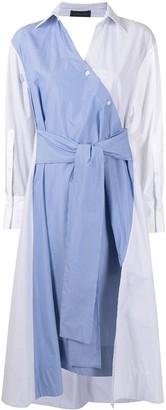 Eudon Choi Multi-Panel Design Shirt Dress