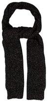 Rag & Bone Patterned Knit Rib Knit-Trimmed Scarf