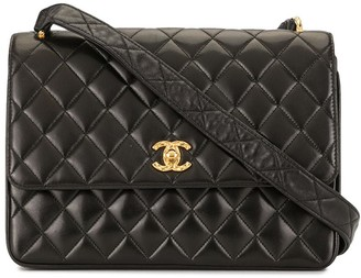 Chanel Pre Owned 1992 Diamond-Quilted Crossbody Bag