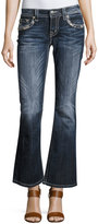 Miss Me Boot-Cut Embroidered Denim Jeans, Dark Wash 413