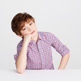 J.Crew Kids' linen-cotton shirt in mini check