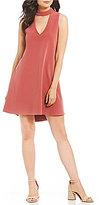 GB Fan Fav Choker Neck Swing Dress
