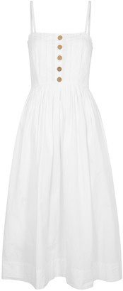 Free People Lilah White Cotton Midi Dress