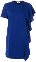 MSGM ruffle trim T-shirt dress - women - Cotton - XS