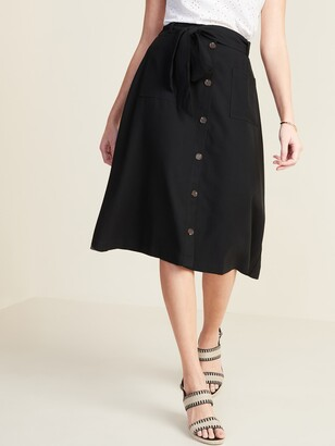 Old Navy Tie-Belt Utility Midi Skirt for Women