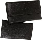 Access Denied RFID Blocking Womens Leather Wallet and Checkbook