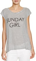 Soft Joie Naida Striped Graphic Tee