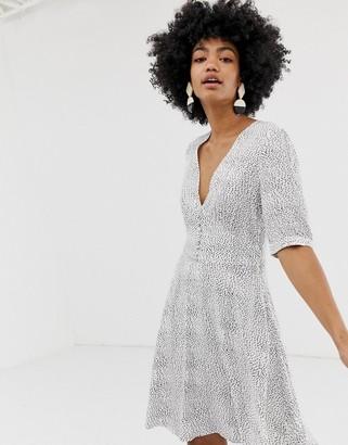 Gestuz Cathrin polka dot tea dress with button front