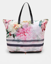 Ted Baker Painted Poise foldaway shopper bag