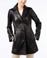 Anne Klein Leather Topper Jacket