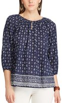 Chaps Women's Printed Georgette Blouse
