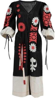 Vita Kin Multicolor Muscat Linen Midi Dress