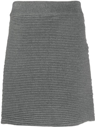 Gianfranco Ferré Pre-Owned 2000s Ribbed Knit Skirt