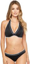 Figleaves Mono Crochet Underwired Halter Bikini Top