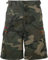 Facetasm camouflage print shorts - men - Cotton/Nylon - 4