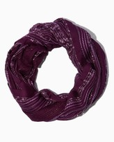 Charming charlie Crocheted Stripe Infinity Scarf