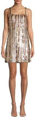 Parker Nava Beaded Sleeveless Mini Dress