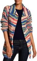 Desigual Multi Color Large Cable Knit Cardigan