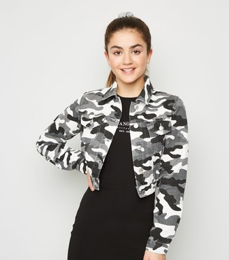 New Look Girls Camo Denim Jacket