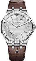 Maurice Lacroix AI1008-SS001-130-1 Aikon stainless steel and leather watch