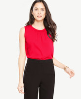 Ann Taylor Ruched Neck Shell