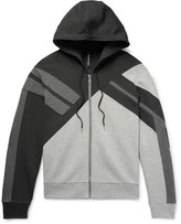Neil Barrett - Panelled Bonded Jersey Zip-up Hoodie