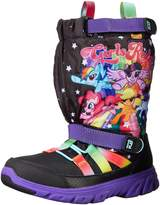 Stride Rite Kids M2P My Little Pony Toddler Sneakers, Black/Rainbow