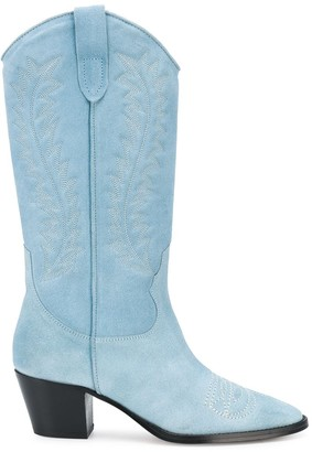 Paris Texas Low Heel Cowboy Boots