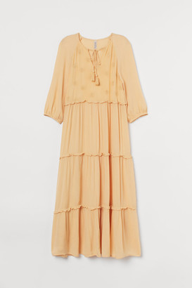 H&M Embroidered Dress - Yellow