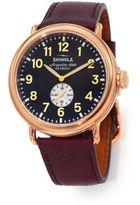 Shinola Runwell 47MM Stainless Steel & Leather Watch