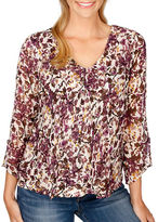 Lucky Brand Floral-Printed V-Neck Top