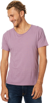Silent Theory Basic Raw Edge Unisex Tee Purple