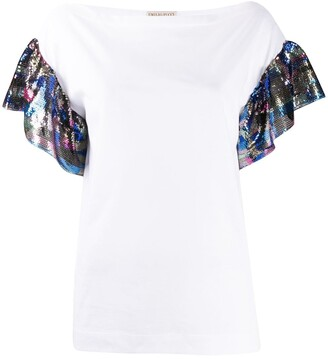 Emilio Pucci sequin-embellished T-shirt