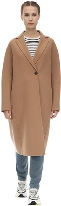 Sportmax Long Virgin Wool & Cashmere Camel Coat
