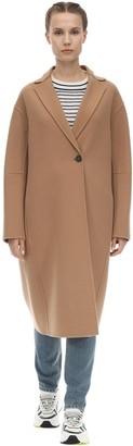 Sportmax Long Virgin Wool & Cashmere Camel Coat