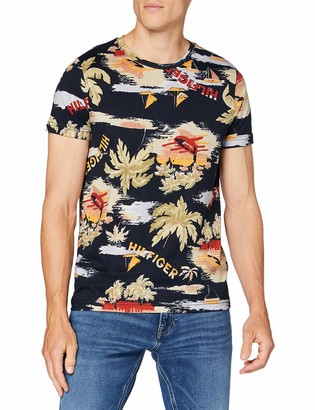 Tommy Hilfiger Men's Summer Allover Print TEE Sport Shirt