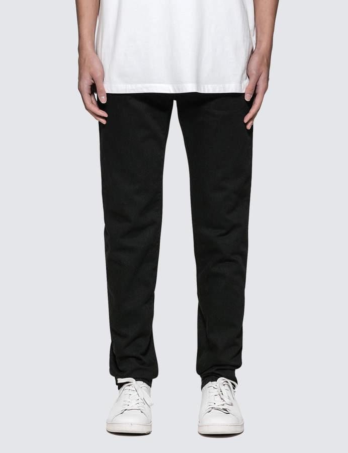 Marcelo Burlon County of Milan Flags Black Slim Fit Jeans