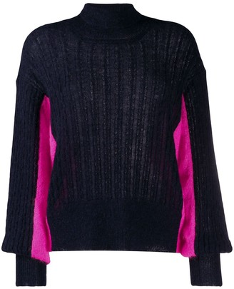 Maison Flaneur Turtleneck Two-Tone Jumper