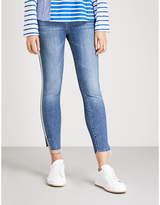 7 For All Mankind Side-stripe slim-fit super skinny jeans