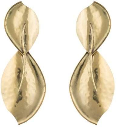 Josie Natori Brass Leaf Earrings