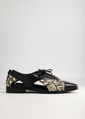 NEED Women's Warren Lace Up Shoes in Snake, Size 5 | Leather
