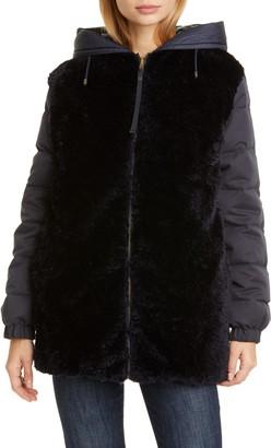 Mr & Mrs Italy Reversible Genuine Shearling Down Puffer Coat