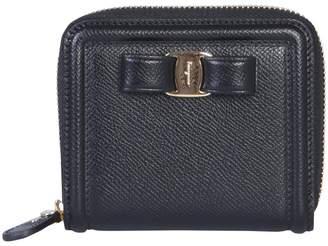 Salvatore Ferragamo Vara Bow Zip Around Wallet