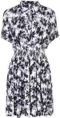Nicole Miller floral print shirt dress