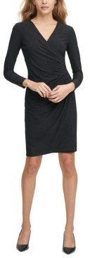 Calvin Klein Side-Ruch Sheath Dress