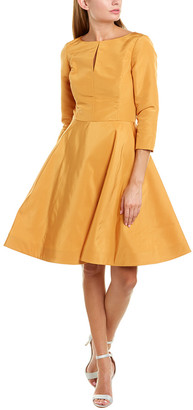 Oscar de la Renta Silk A-Line Dress