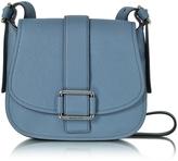 Michael Kors Maxine Large Denim Leather Saddle Bag