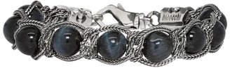 Emanuele Bicocchi Black Beaded Chain Bracelet