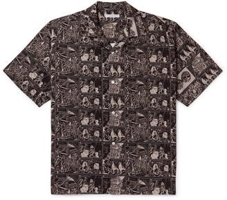 Flagstuff Camp-Collar Printed Cotton Shirt