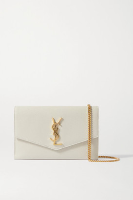 Saint Laurent Uptown Textured-leather Shoulder Bag - Off-white